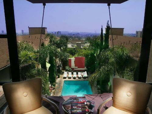 Ausblick des Hotels in Hollywood