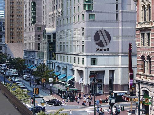 Außenansicht des Hotels in Philadelphia
