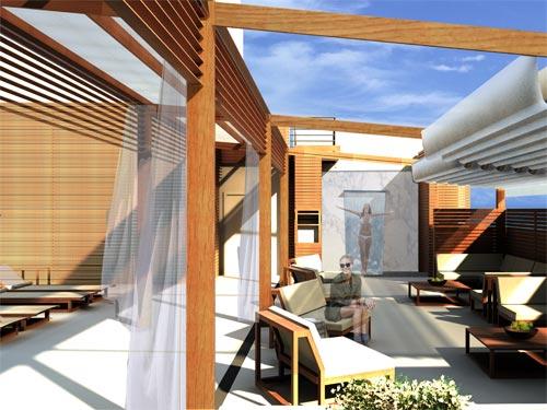 Die stilvolle Dachterrasse