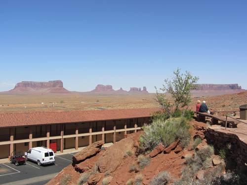 Unterkunft mit Ausblick auf das Monument Valley