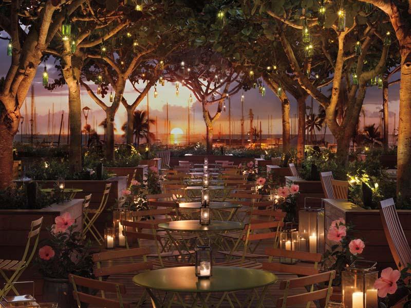 Restaurant auf Hawaii von außen