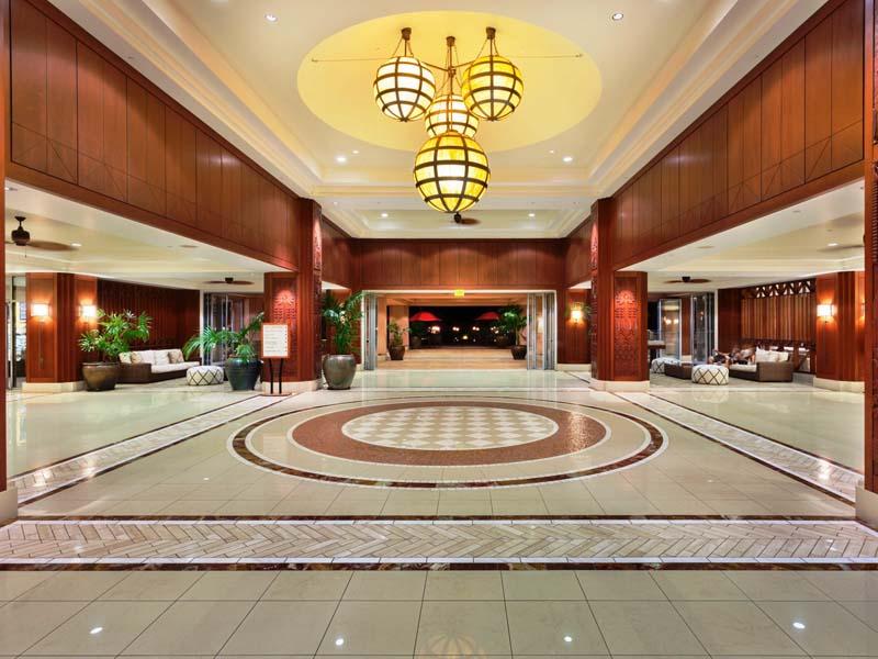 Die Lobby der Komfortunterkunft