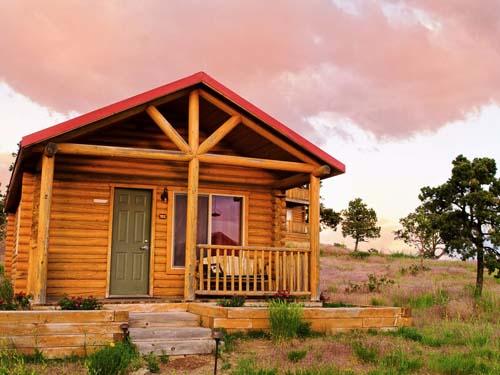 Hütte am Rande des Zions Nationalparks